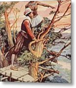 The First Englishman To See The Pacific Metal Print
