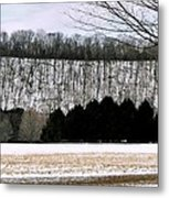 The First Snow New Hope Pa Metal Print