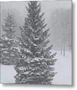 The First Snow Of Christmas Metal Print