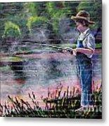 The Fishing Boy Metal Print