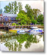 The Fishing Village Metal Print