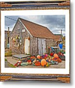 The Fishing Village Scene Metal Print