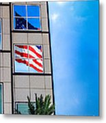 The Flag That Never Hides Metal Print