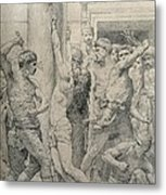 The Flagellation Of Christ Metal Print by William Adolphe Bouguereau