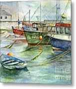 The Fleet Is In At Dingle Metal Print