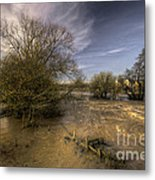 The Floods At Stoke Canon  Metal Print