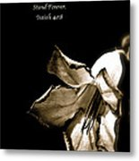 The Flower Fadeth Metal Print