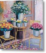 The Flower Shop Paris Metal Print