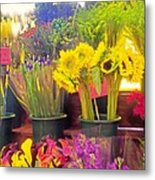 The Flower Stand  Metal Print