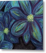 The Flowers Are Blue Metal Print