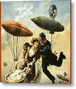 The Fly Cop Metal Print