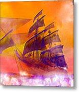 The Flying Dutchman Ghost Ship Metal Print
