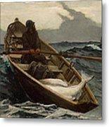 The Fog Warning .halibut Fishing Metal Print