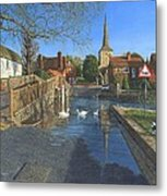 The Ford At Eynsford Kent Metal Print