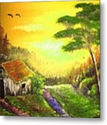 The Forest House Metal Print
