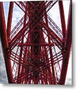 The Forth Bridge Up Close And Personal Metal Print