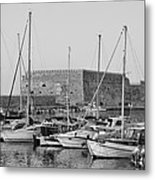 The Fortress And The Port In Iraklio City Metal Print