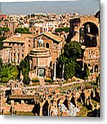 The Forum From The Palatine Metal Print