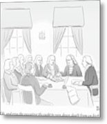 The Founding Fathers Drafting The Constitution Metal Print