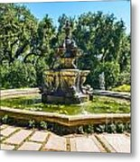 The Fountain - Iconic Fountain At The Huntington Library. Metal Print