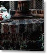 The Fountain And The Teapot Metal Print
