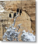 The Four Crows Metal Print