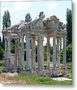 The Four Roman Columns Of The Ceremonial Gateway  Metal Print