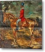 The Fox Hunt With Light Antique Store Mural Griffin Georgia Art Metal Print