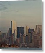 The Freedom Tower And Island Metal Print