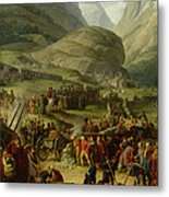 The French Army Travelling Over The St. Bernard Pass At Bourg St. Pierre, 20th May 1800, 1806 Oil Metal Print