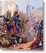 The French Legion Storming A Carlist Metal Print