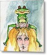 The Frog And The Princess Metal Print