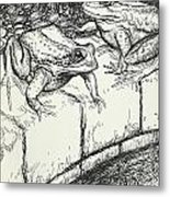 The Frogs And The Well Metal Print