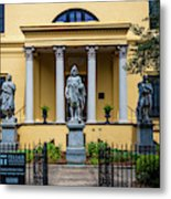 The Front Of The Telfair Museum Of Art Metal Print