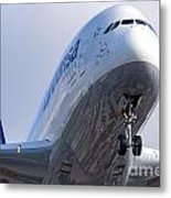 The Front Office Lufthansa Airbus A-380 Metal Print
