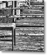 The Front Porch Bw Metal Print by JC Findley