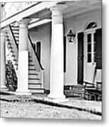 The Front Porch - Bw Metal Print
