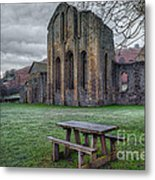 The Frosty Bench Metal Print