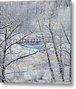 The Frozen Bridge Metal Print by Maria Angelica Maira
