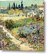 The Garden At Arles, 1888 Metal Print