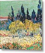 The Garden At Arles, Detail Metal Print