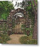 The Garden Gate Metal Print