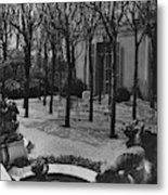 The Garden Of A Home In Meridian Hill Metal Print