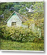 The Garden Shed Metal Print by Dianne  Lacourciere