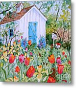 The Garden Shed Metal Print