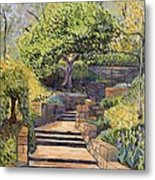 The Garden Stairs Metal Print