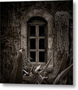 The Garden Window Metal Print