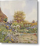 The Gardens At Chequers Court Metal Print