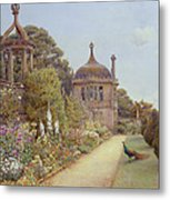The Gardens At Montacute In Somerset Metal Print