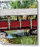 The Gardner Villiage Bridge Metal Print